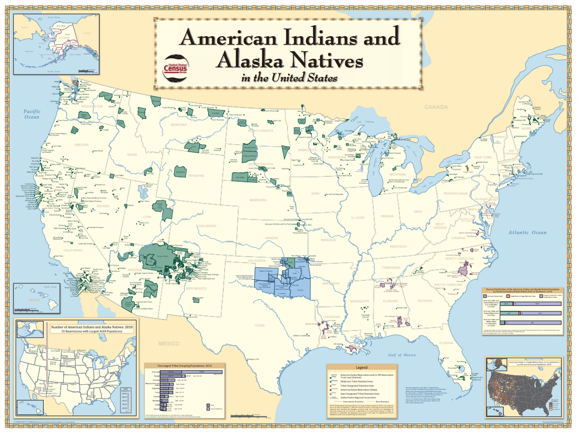 Demographics American Indian Policy Institute - Us-demographics-map